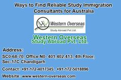 Western Overseas study visa consultant. We also provide IELTS coaching. We have our study visa offices and Institutes in Chandigarh, Kurukshetra and Ambala. We are well in north India just because of our service. So if you want to IELTS or want to get Study visa of Australia, New Zealand and Canada
