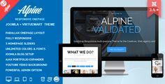 Alpine - Responsive One Page Joomla Template