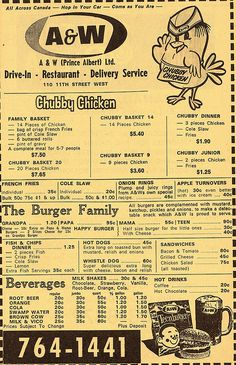 """Dad loved nothing better than going to the A & W when we were out for """"drives""""."""