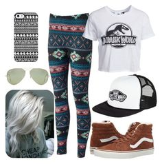 """""""Skate 2"""" by juh-styles-334 on Polyvore featuring beleza, New Look, Vans, Uncommon e Ray-Ban"""