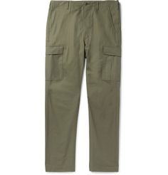 eea18a3b2a2eb3 ORSLOW COTTON-RIPSTOP CARGO TROUSERS - GREEN. #orslow #cloth