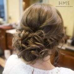 Soft wedding updo.