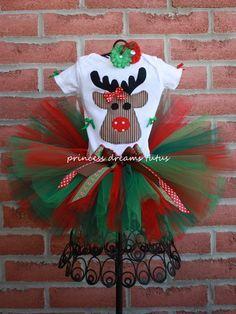 Santa's Little Helper Rudolph Tutu Outfit by PrincessDreamsTutus, $55.00 adorable!! | best stuff