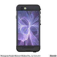 Monogram Purple Abstract Modern Fractal LifeProof NÜÜD iPhone 6s Case