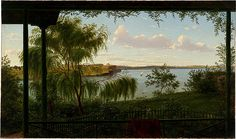 From the verandah of Purrumbete by Eugene von Guerard