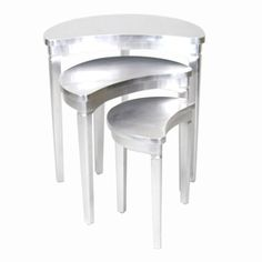 Wayborn Furniture Silver Leaf Accent Table Set