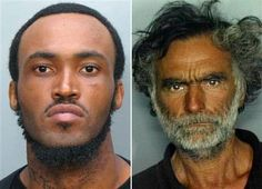 ZOMBIE APOCALYPSE!!!  This combo made with undated photos made available by the Miami-Dade Police Dept. shows Rudy Eugene, 31, left, who police shot and killed as he ate the face of Ronald Poppo, 65, right, during a horrific attack in the shadow of the Miami Herald's headquarters on Saturday, May 26, 2012. Poppo was in critical condition Tuesday, with only his goatee intact on his face, the newspaper reported. (AP Photo/Miami-Dade Police Dept.)