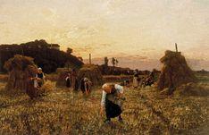 Gleaners at sunset (Jules-Adolphe Breton - 1863)