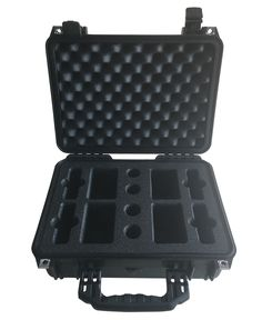 Foam Insert for Lightware Transmiter / Reciver Kit using LD18 foam in the base and 40mm profile in the Lid to fit Peli Case 1450 from Best Flight Cases