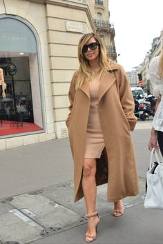Kim shopping in Paris.