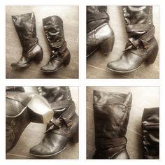 VERKAUFT cowboy - schwarze stiefel im leichtem cowboy-stil, wurden oft getragen, daher gebraucht, von carina, grösse 39, fr. 8.- (+ porto fr. 8.-)