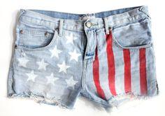 American Flag Shorts DIY | Free People Blog #freepeople