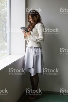 Woman Is Checking Tablet