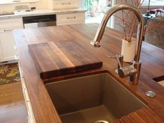 article on walnut island top for kitchen