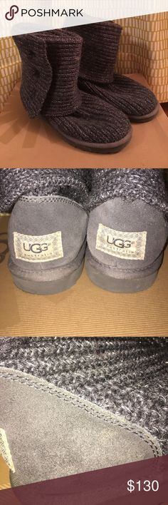 fe0173aa5fc Classic Cardy UGG boots gray w silver Only worn a handful of times just a