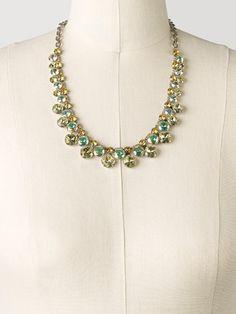 Cushion Cut Crystal Statement Collar Necklace in Lemonade - Sorrelli