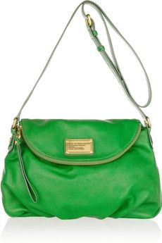 Marc by Marc Jacobs | Natasha leather shoulder bag | Its green!