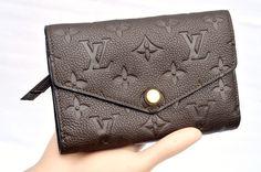 Louis Vuitton Brown Compact Curieuse Monogram Empreinte Women's Wallet