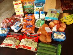 Check out what my sister, Brigette, got at the grocery store for $63 + see what she's feeding her family this week. So inspiring!