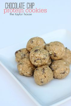 Healthy Snacks: Chocolate Chip Protein Cookies (No Bake) - The Taylor House