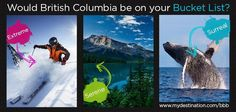 My Destination Biggest Baddest Bucket List competition! Capital Of Canada, Online Travel, Outdoor Recreation, Business Travel, Surrey, British Columbia, Traveling By Yourself, Coastal, Things To Do