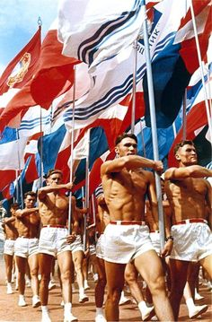 """Russian photography. """"Sports Parade in Moscow"""" by Lev Borodulin, 1956."""