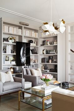 Living Room designed by Elizabeth Metcalfe Interiors & Design Inc.