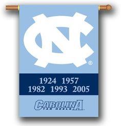North Carolina Tar Heels Champion Years Banner