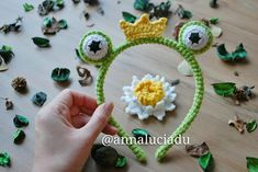 crochet frog headband crochet patterns frog by Emmacrochetdesign4U