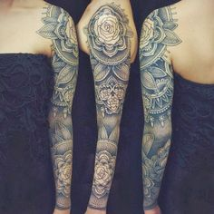 floral pattern tattoo