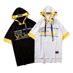 Pizoff Unisex Street Style Hip-hop Hipster Casual T-Shirt - Kadın modası Nyfw Street Style, Casual Street Style, Street Styles, Hipster Outfits, Fashion Outfits, Style Hip Hop, Trendy Hoodies, Hip Hop Fashion, Mens Fashion