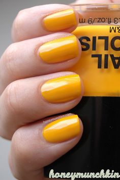 What do you think I used it for? Orange Nail Polish, Yellow Nails, Beauty Tips, Beauty Hacks, Mondays, Fingers, Swatch, Lemon, Fancy
