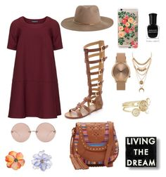 """""""Feeling myself"""" by vvvviviana on Polyvore featuring Manon Baptiste, belle by Sigerson Morrison, Linda Farrow, Zimmermann, Rifle Paper Co, Isabella Fiore, Topshop, Charlotte Russe, Deborah Lippmann and Universal Lighting and Decor"""