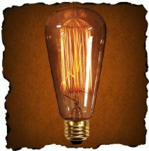 60 Watt - Vintage Antique Light Bulb - Edison Style - 4.75 in. Length - Squirrel Cage Filament - Multiple Supports - Clear