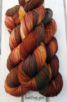 Ewetopia Sock 4 ply Hand dyed yarn Superwash merino by Lambstrings