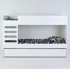 Ava Bunk Bed – Design from Scandinavia Under Bed Drawers, Dreams Beds, Bunk Beds, Toddler Bed, Furniture Design, Single Beds, Storage, Ladder, Families