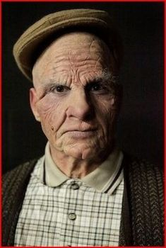Old age makeup. This is the hardest makeup application . this is great.