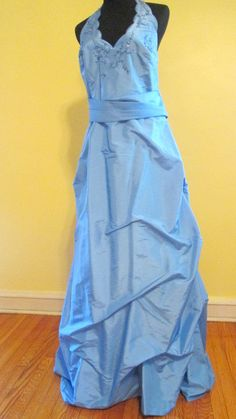 Sky Blue Formal Ball Gown Dress.  Bubble Formal by MISSVINTAGE5000