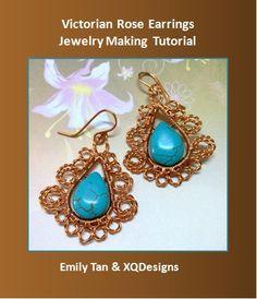Victorian Rose Earrings Jewelry Making Tutorial - diybeadingclub
