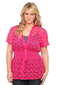 outfit1  Pink Lace Smocked Tie Front Top from Torrid #IAmTorrid