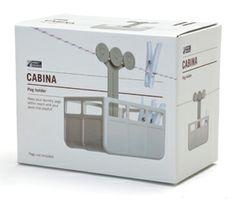 Porte pinces linge plastique Cabine téléphérique Design