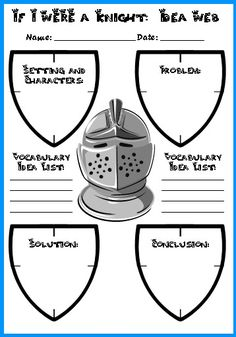 If I Was a Medieval Knight Creative Writing Idea Web Worksheet Free Kindergarten Worksheets, Worksheets For Kids, Creative Writing Topics, Medieval Knight, Time Activities, Medieval Times, European History, American History, Middle Ages
