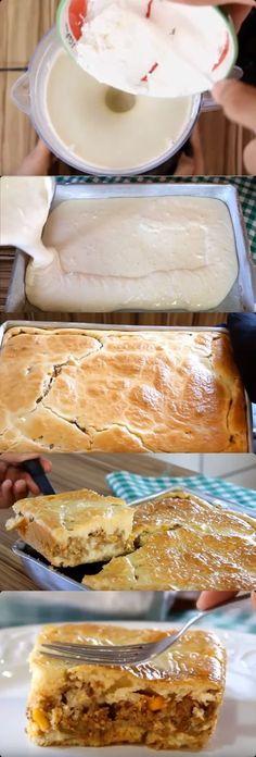 TORTA DE CARNE MOÍDA DE LIQUIDIFICADOR FÁCIL E RÁPIDA #torta #tortadecarne#comida #culinaria #gastromina #receita #receitas #receitafacil #chef #receitasfaceis #receitasrapidas