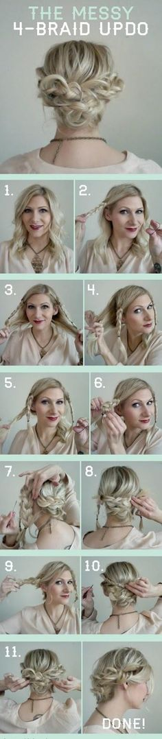Easy Braid Updo on Confessions of a Hairstylist