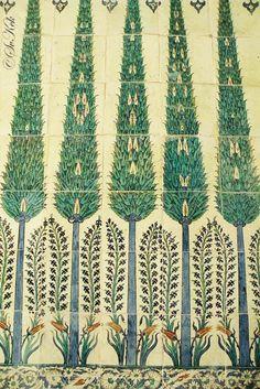 Tiles, Topkapı Palace, Istanbul, Turkey