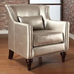 Definitely not in metallic silver but otherwise, this has potential. #wingback #chair #furniture