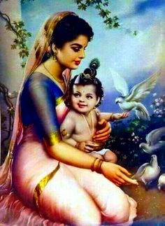 Yashoda Mati with Baby Krishna