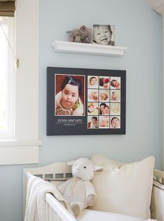Make your baby's nursery a space you love. Create personalized home decor with custom canvas prints for your walls. Find more baby decor inspiration: http://www.shutterfly.com/baby-gifts