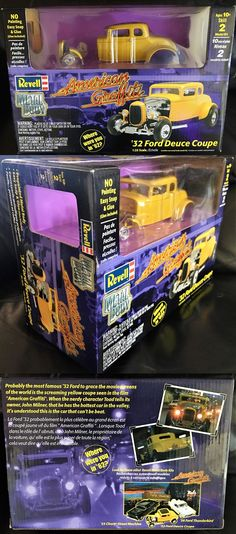 Hot Rod 2582: 1993 American Graffiti - Revell 32 Ford Deuce Coupe - Brand New - 1:25 Scale - -> BUY IT NOW ONLY: $44.99 on eBay!