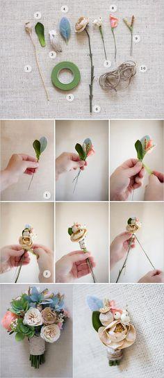 DIY Boutonniere : DIY Wedding